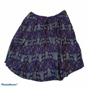 Lularoe Madison Skirt Blue Deer Print Size 3x